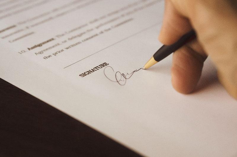 Angebotsmanagement Angebot Unterschrift